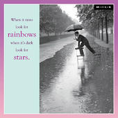 When It Rains Look For Rainbows Blank Greeting Card