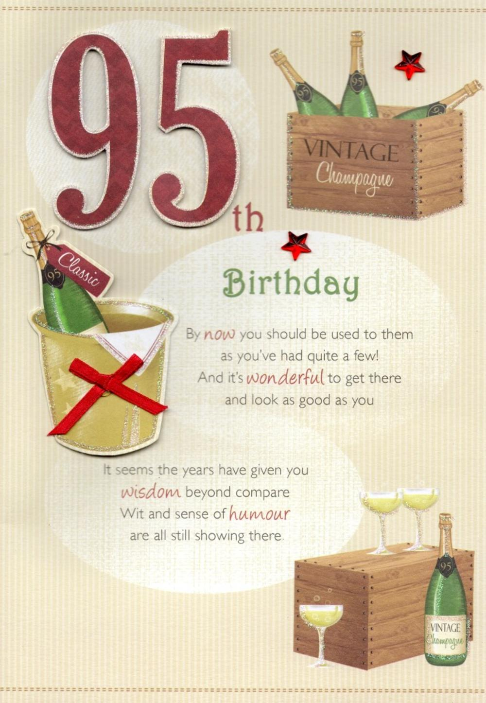 95th Happy Birthday Greeting Card