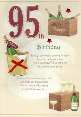 95th Happy Birthday Greeting Card