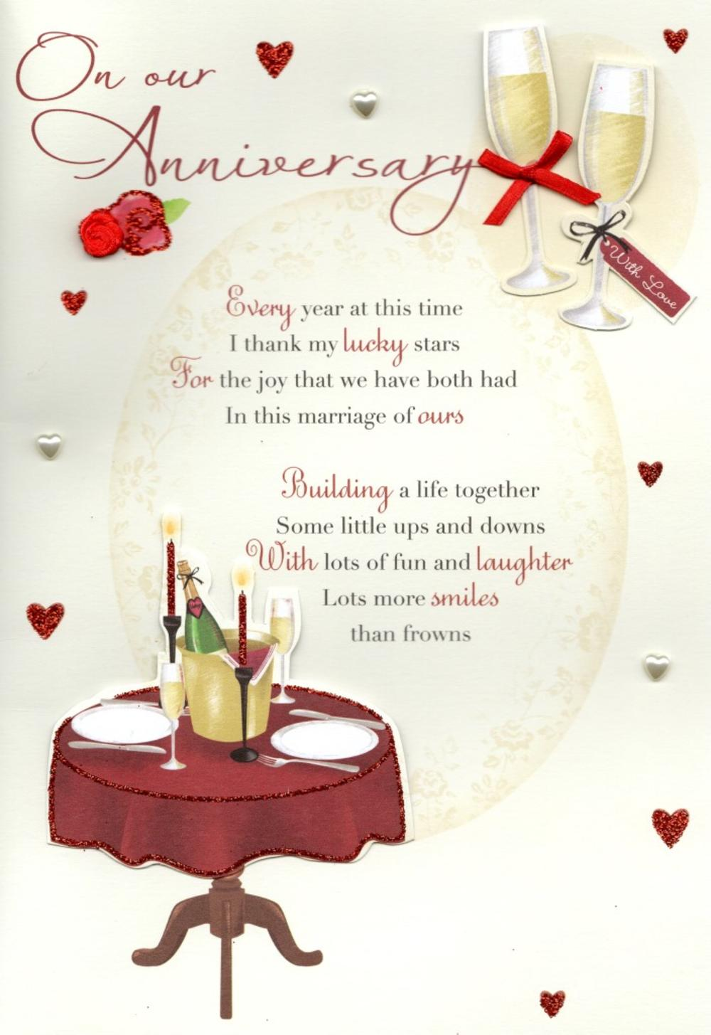 On our anniversary greeting card cards love kates