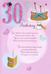 30th Happy Birthday Greeting Card
