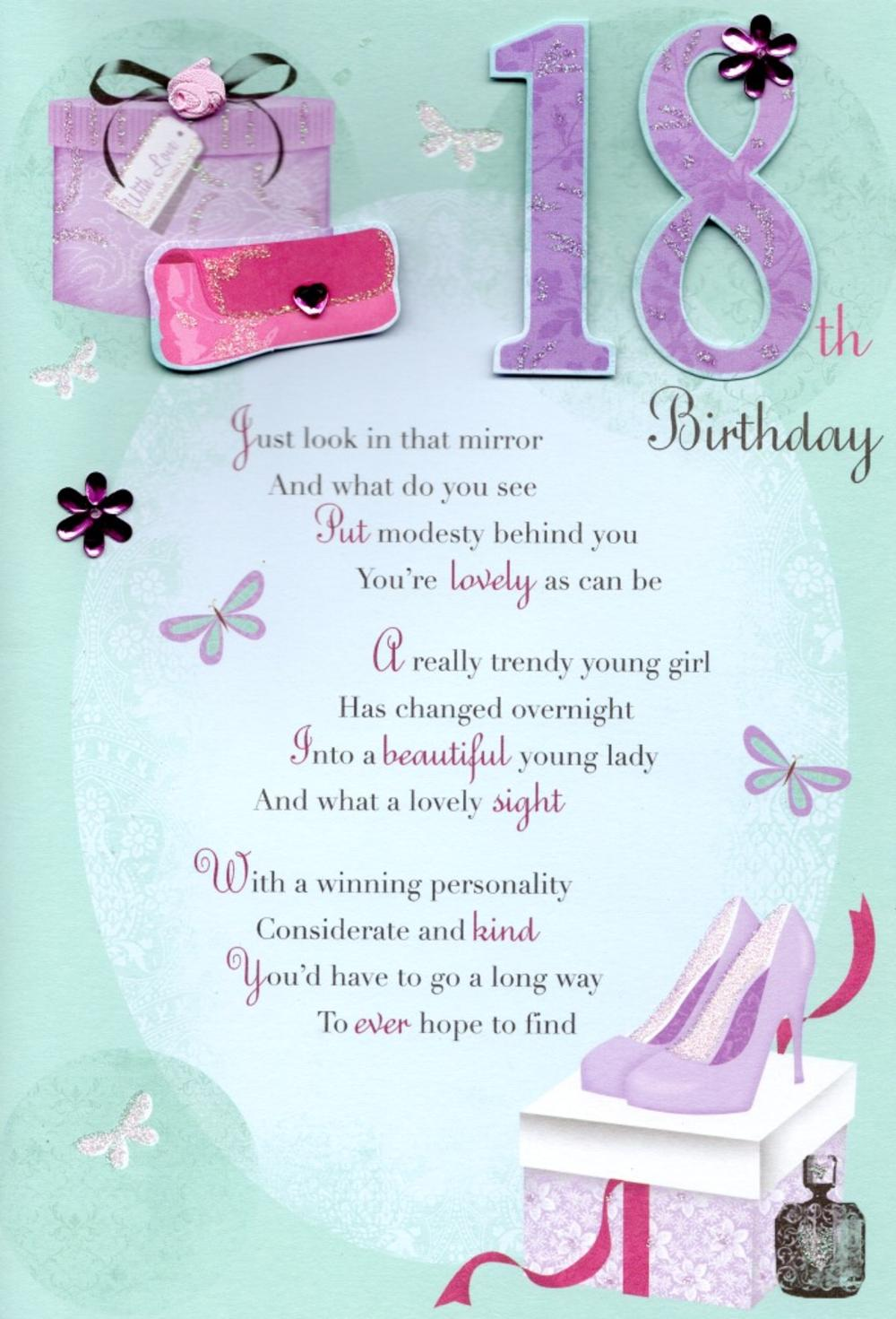 18th Happy Birthday Greeting Card