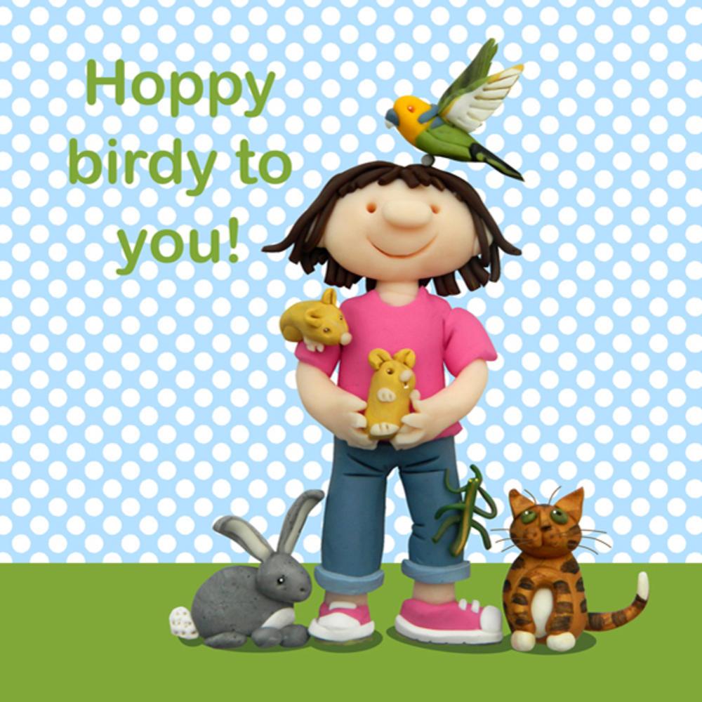 Hoppy Birdy To You Children's Birthday Card