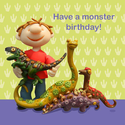 Have A Monster Birthday Children's Birthday Card