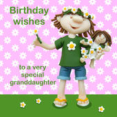 Very Special Granddaughter Birthday Card