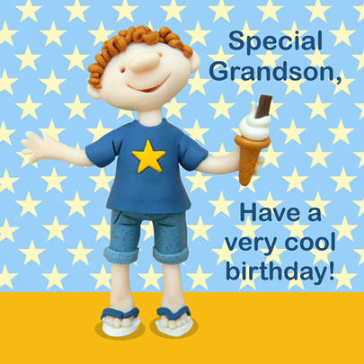 Special Grandson Cool Birthday Card
