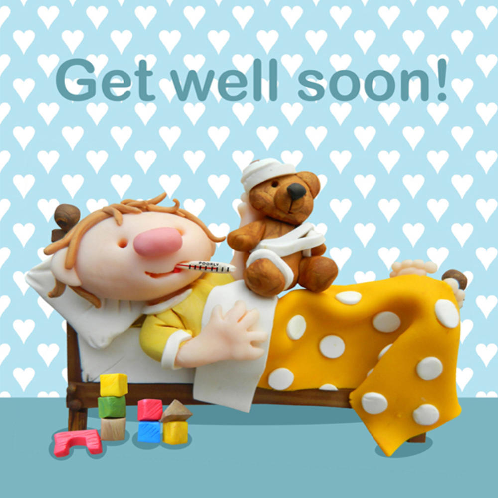 Get Well Soon Childrens Geeting Card Cards Love Kates