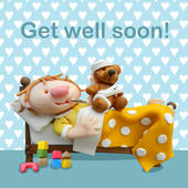 Get Well Soon Children's Geeting Card