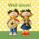 Well Done! Childs Congratulations Card