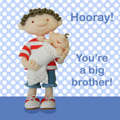 You're A Big Brother New Baby Greeting Card