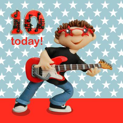 10 Today Boys 10th Birthday Card