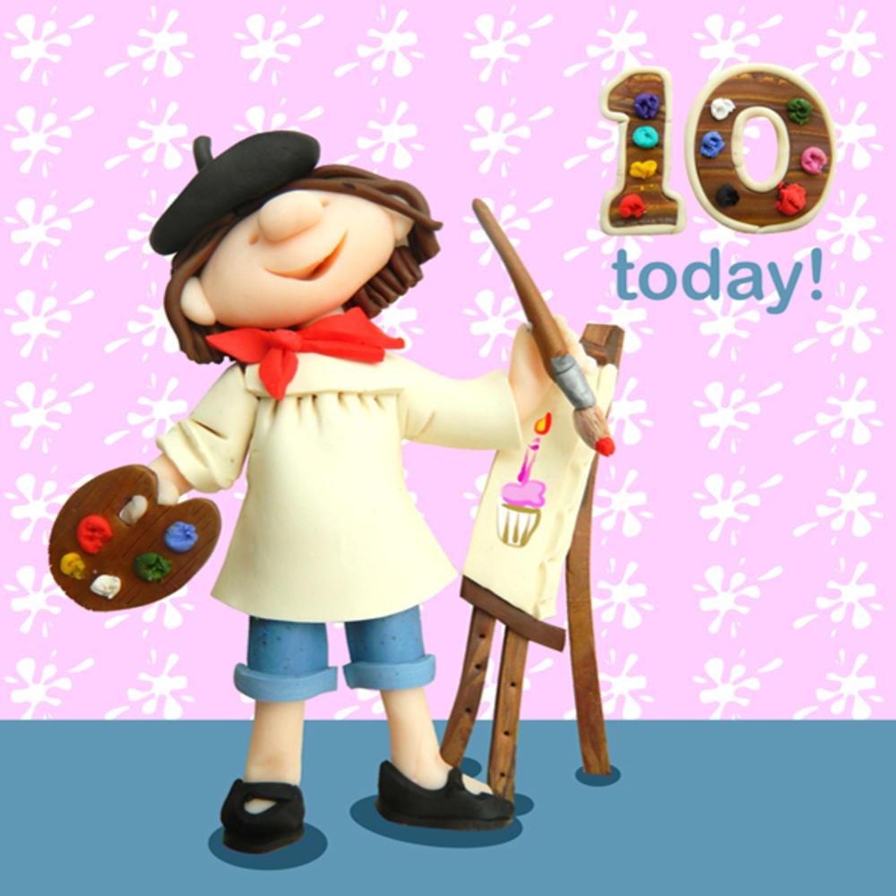 10 Today Girls 10th Birthday Card