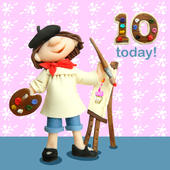 10 Today Girls 10th Birthday Card