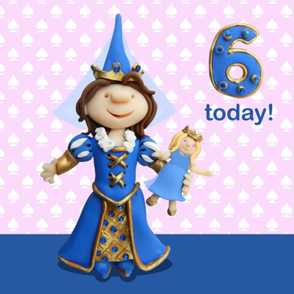 6 Today Girls 6th Birthday Card