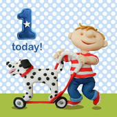 1 Today Boys 1st Birthday Card