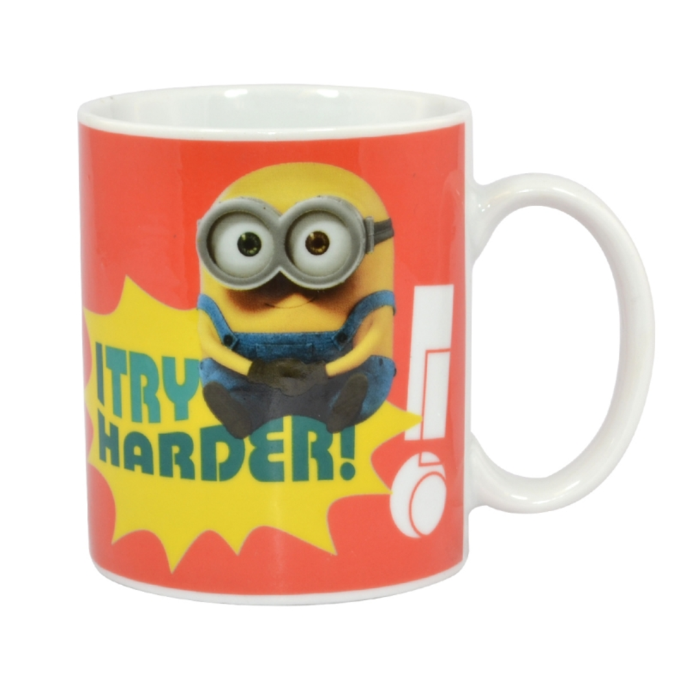 I Try Harder Ceramic Minion Mug In Gift Box