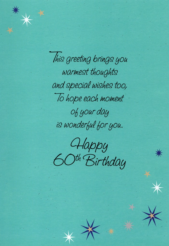 Happy 60th birthday greeting card lovely greetings cards nice verse sentinel happy 60th birthday greeting card lovely greetings cards nice verse m4hsunfo