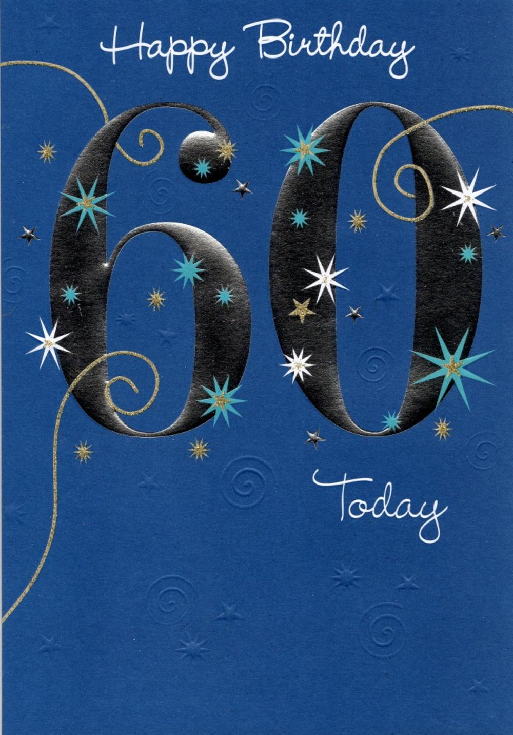 Happy 60th Birthday Greeting Card Cards – Happy 60th Birthday Cards