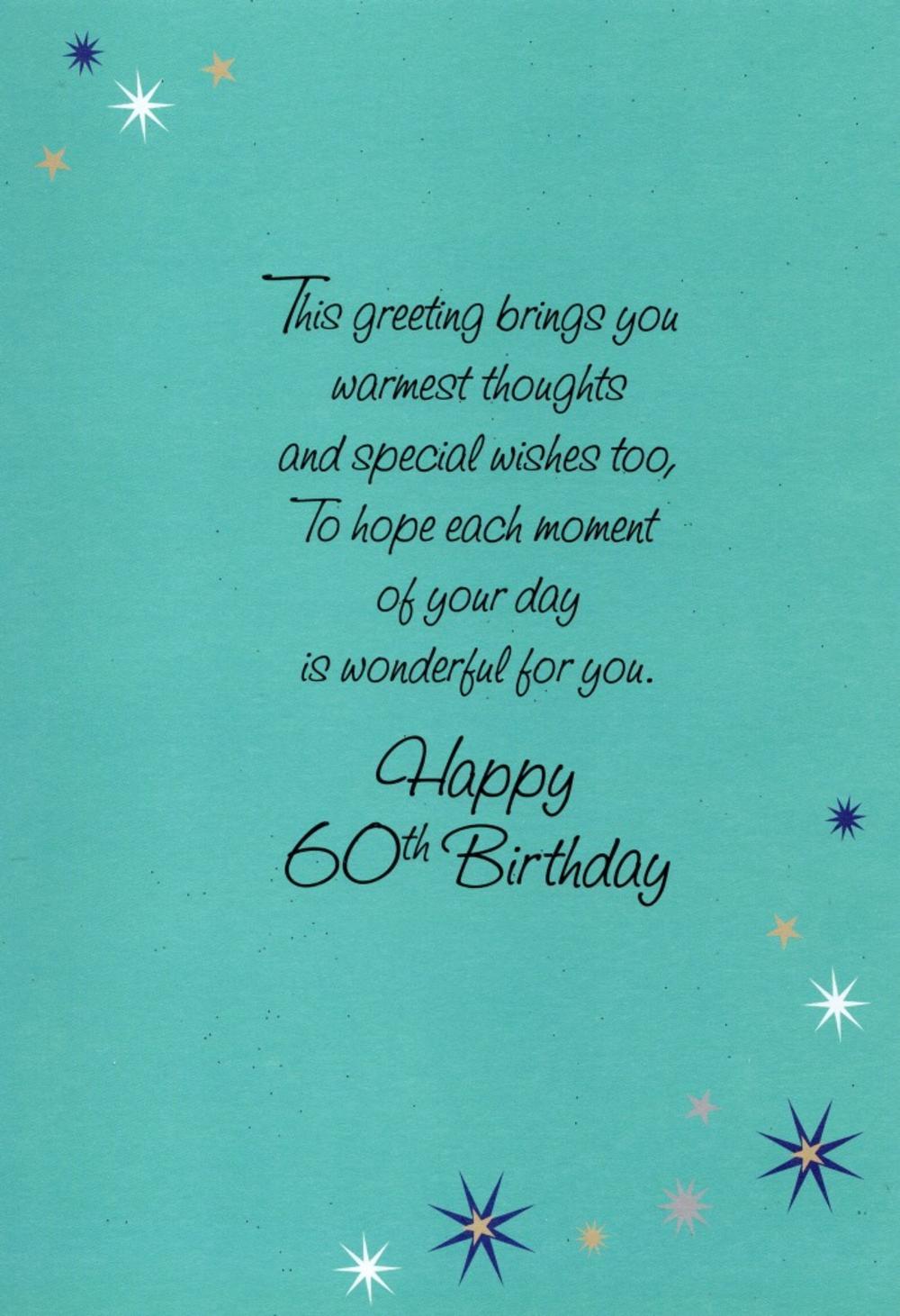 Happy 60th birthday greeting card cards love kates happy 60th birthday greeting card thumbnail 1 thumbnail 2 m4hsunfo
