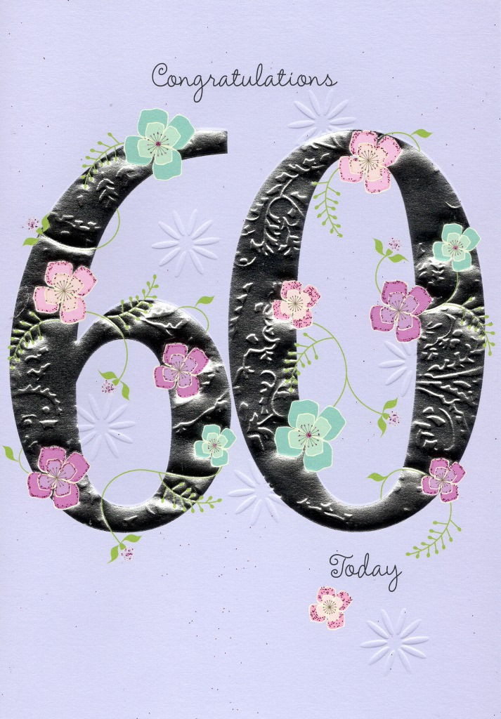 Happy 60th Birthday Greeting Card Lovely Greetings Cards Nice Verse