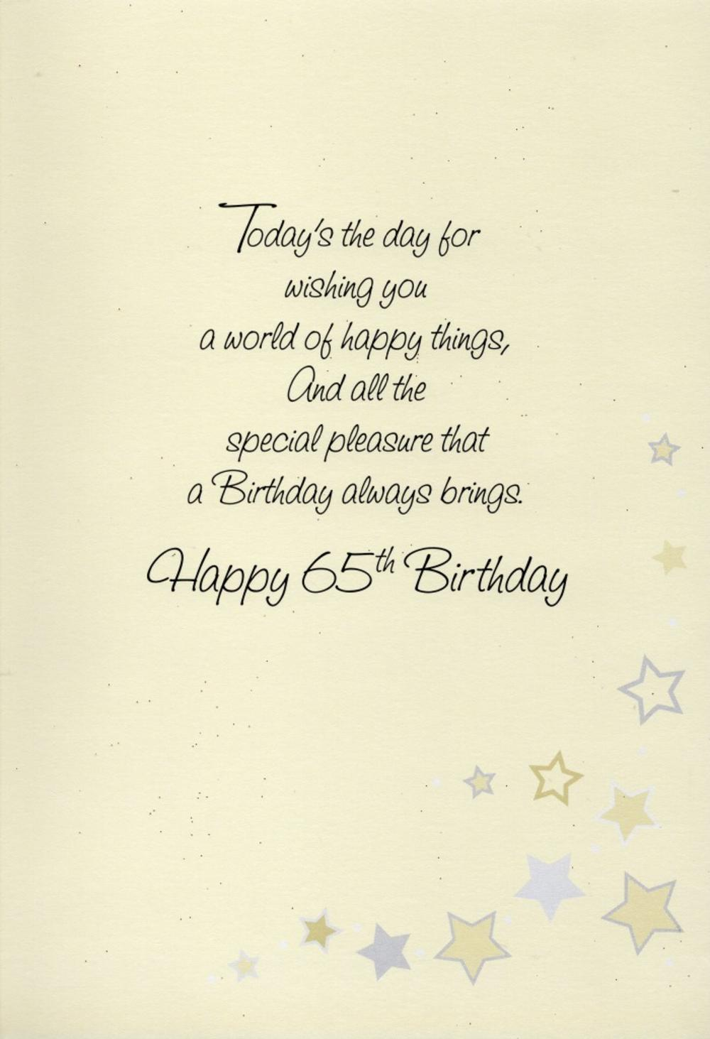 Happy 65th Birthday Greeting Card 25 Off