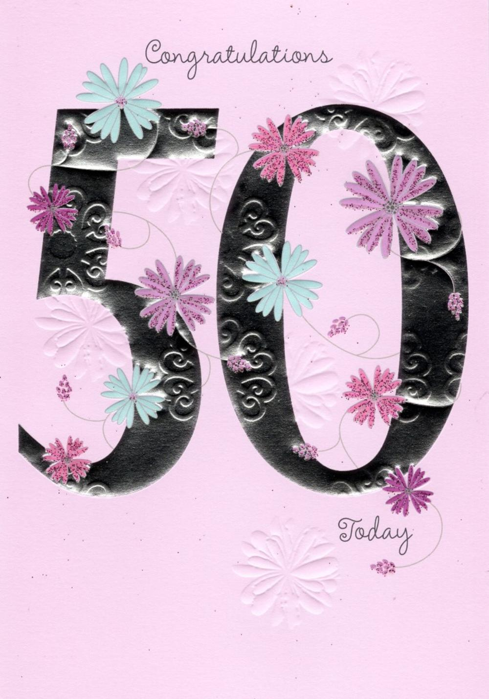 This is a graphic of Agile Free Printable 50th Birthday Cards