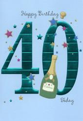 Happy 40th Birthday Greeting Card
