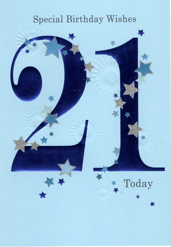 Happy 21st Birthday Greeting Card Cards Love Kates Online Gift