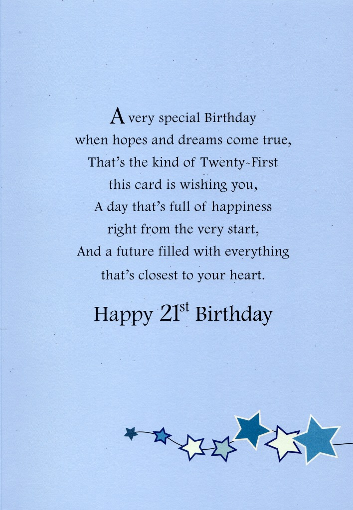 Happy 21st Birthday Greeting Card Lovely Greetings Cards Nice – Twenty First Birthday Cards