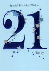 Happy 21st Birthday Greeting Card