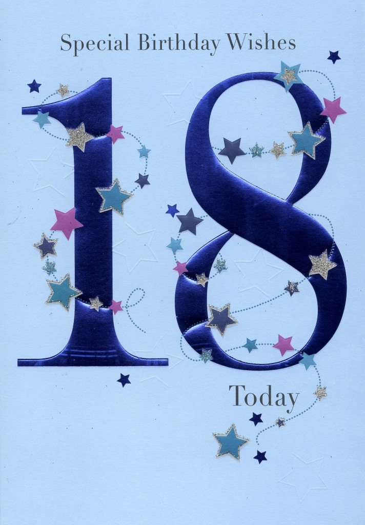 Happy 18th Birthday Greeting Card Lovely Greetings Cards Nice – 18th Birthday Card Verses