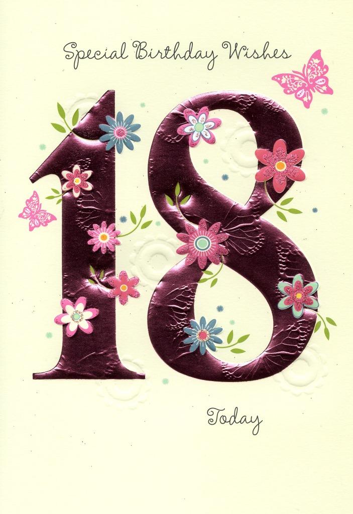 Happy 18th Birthday Greeting Card Cards Love Kates