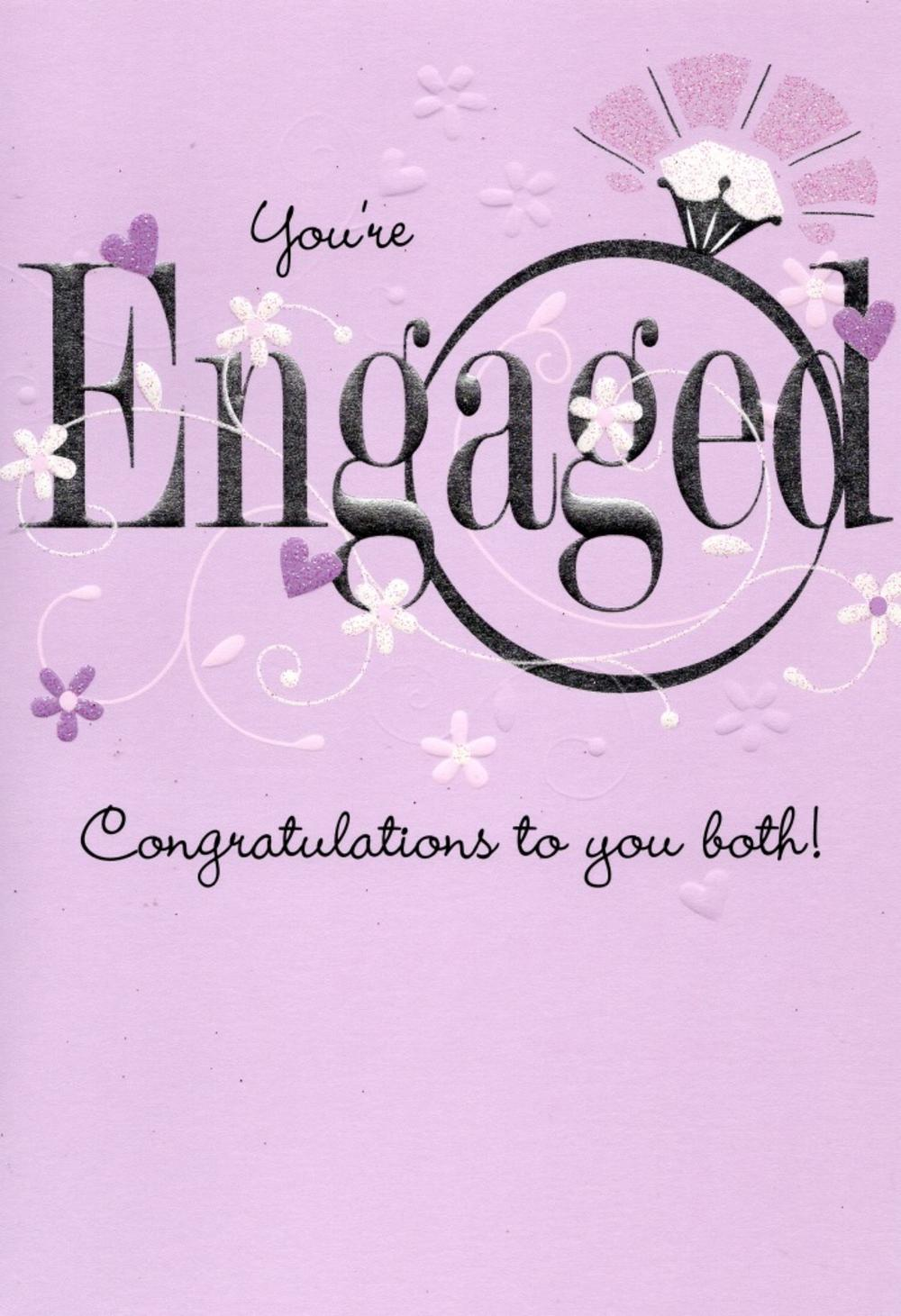 You're Engaged Congratulations Greeting Card