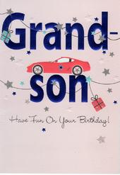 Grandson Happy Birthday Greeting Card