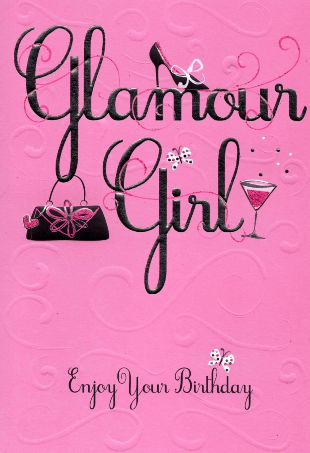 Glamour girl enjoy your birthday greeting card cards love kates glamour girl enjoy your birthday greeting card bookmarktalkfo Image collections