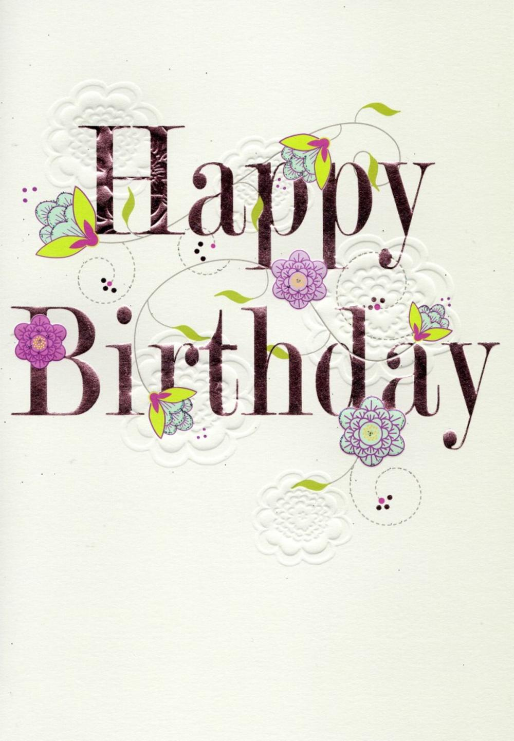 Pretty Happy Birthday Greeting Card Cards – Beautiful Happy Birthday Cards