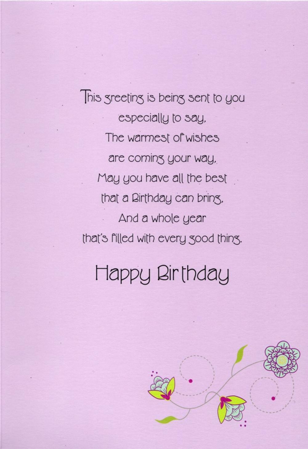 Pretty Happy Birthday Greeting Card Cards Love Kates