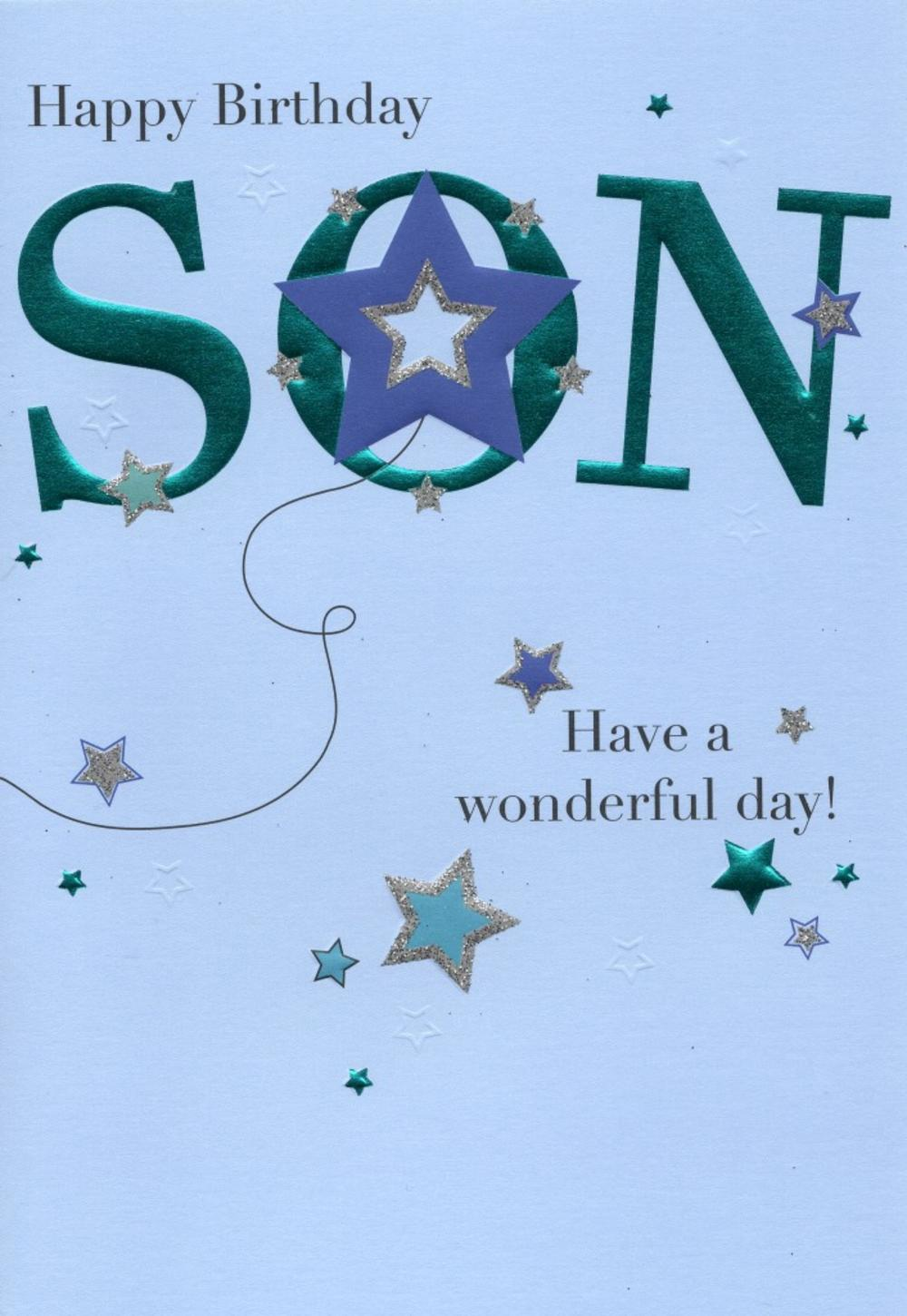 Happy Birthday Son Greeting Card Cards – Happy Birthday Cards for Son