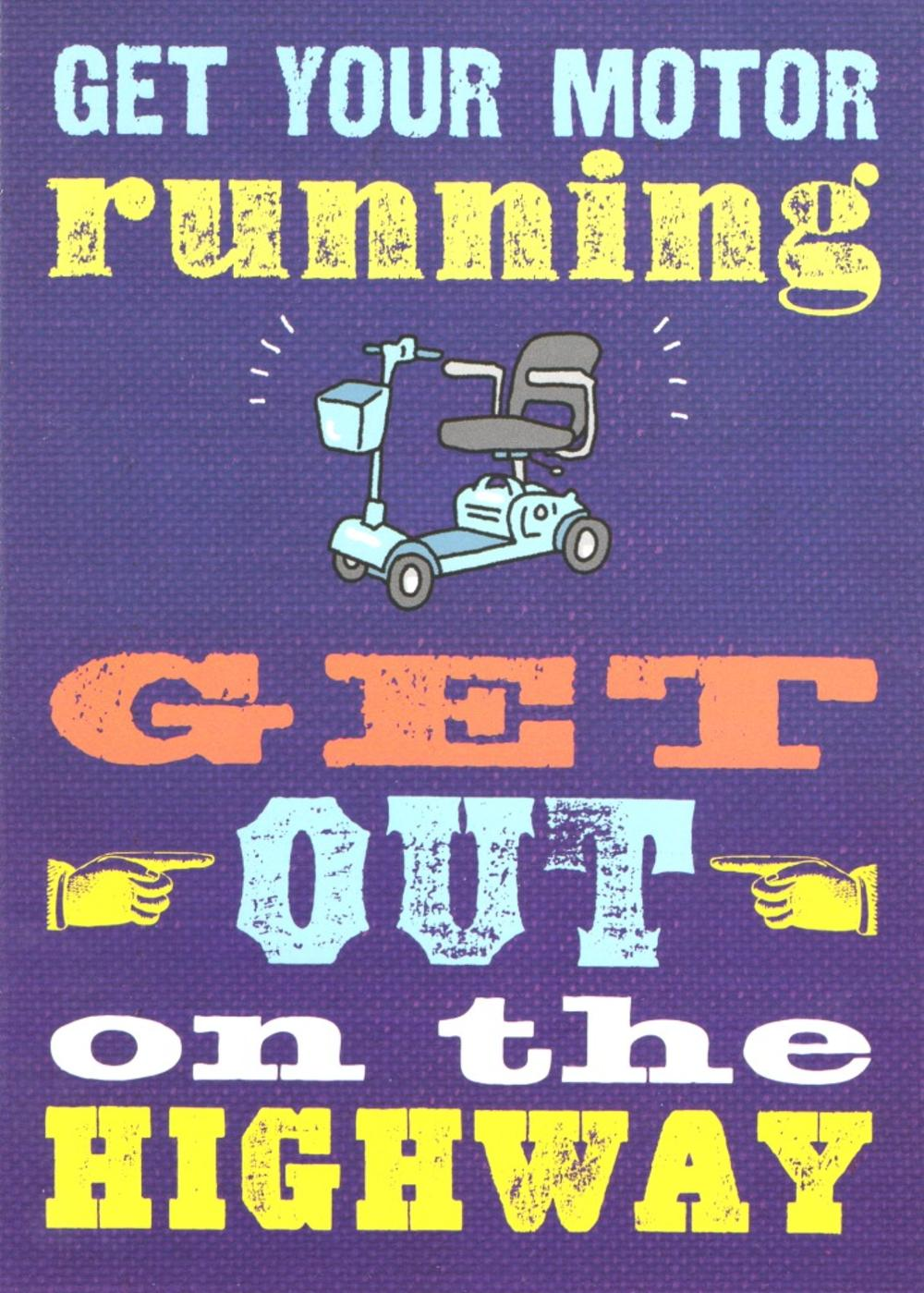 Get Your Motor Running Funny Birthday Card Cards Love