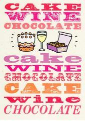 Cake Wine Chocolate Funny Birthday Card