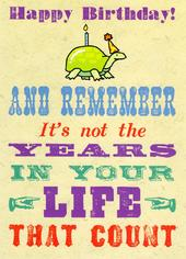 Not The Years In Your Life Funny Birthday Card