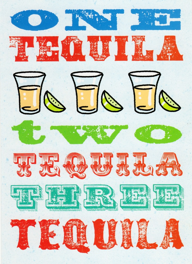 One Tequila Two Tequila Funny Birthday Card Cards Love Kates