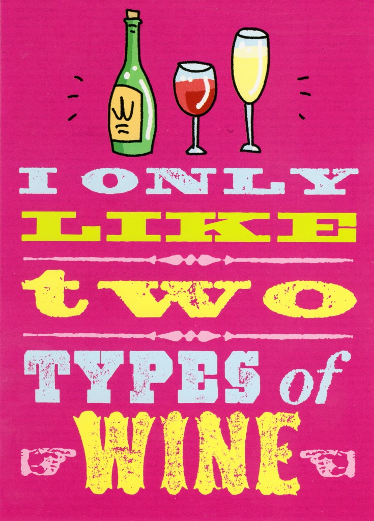 I Only Like Two Types Wine Funny Birthday Card Cards Love Kates