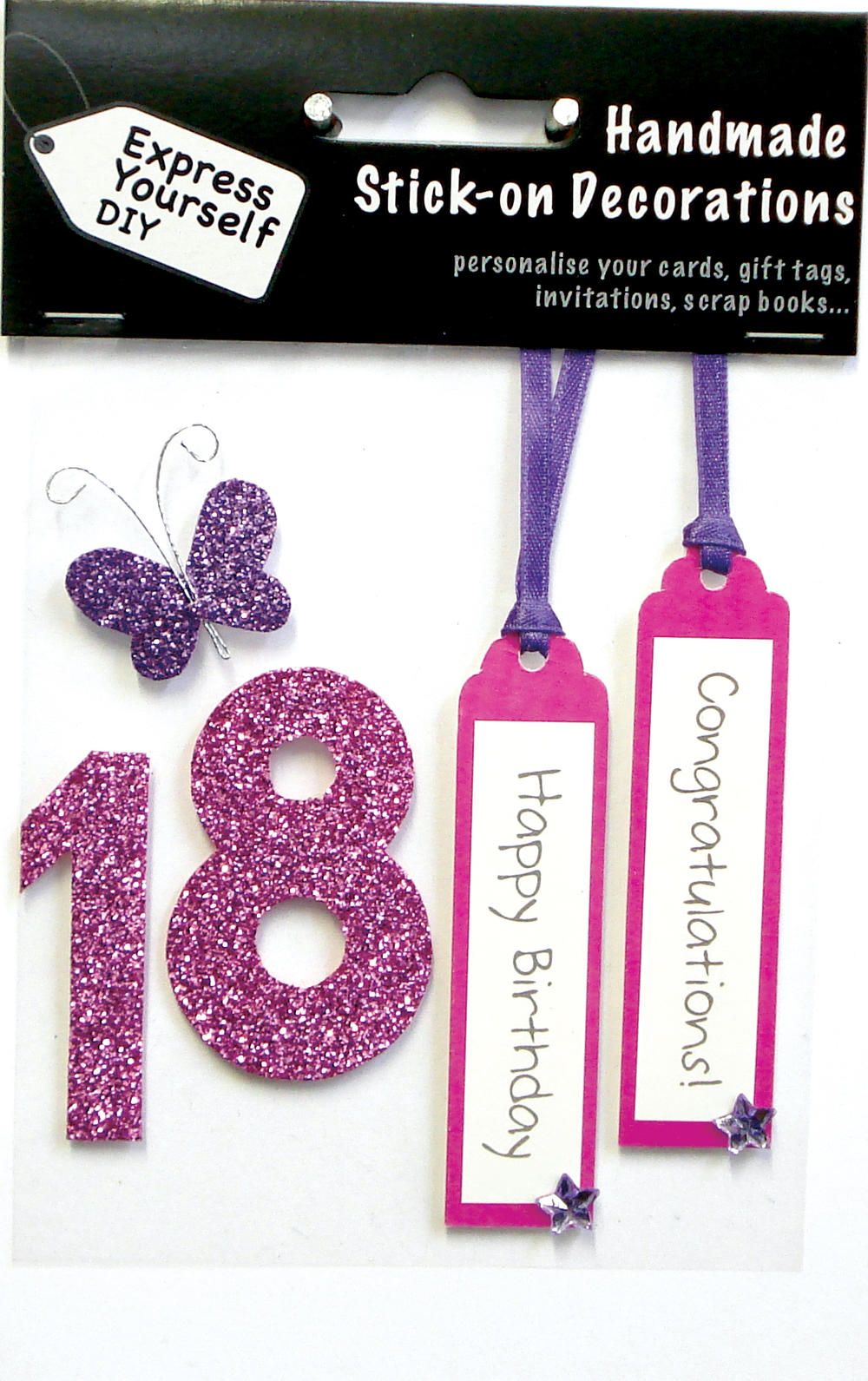 Pink 18th Birthday DIY Greeting Card Toppers – 18th Birthday Cards for Girls