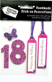 Pink 18th Birthday DIY Greeting Card Toppers