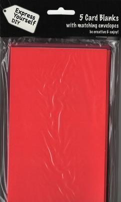 Pack of 5 Greeting Card Blanks & Envelopes