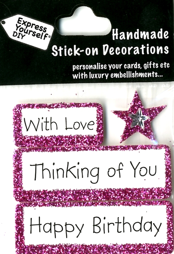 Happy Birthday Thinking Of You DIY Greeting Card Toppers ...