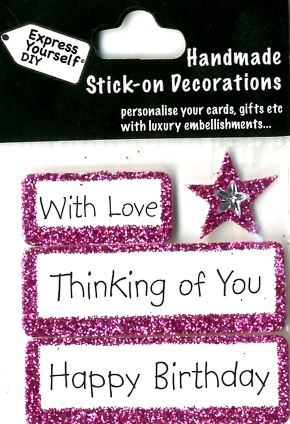 Happy Birthday Thinking Of You DIY Greeting Card Toppers