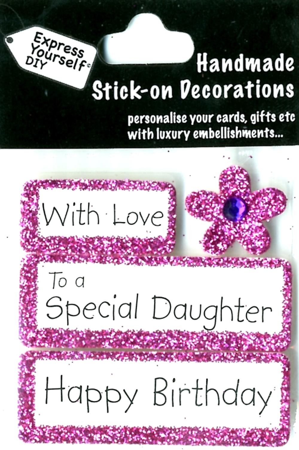Happy Birthday Daughter DIY Greeting Card Toppers