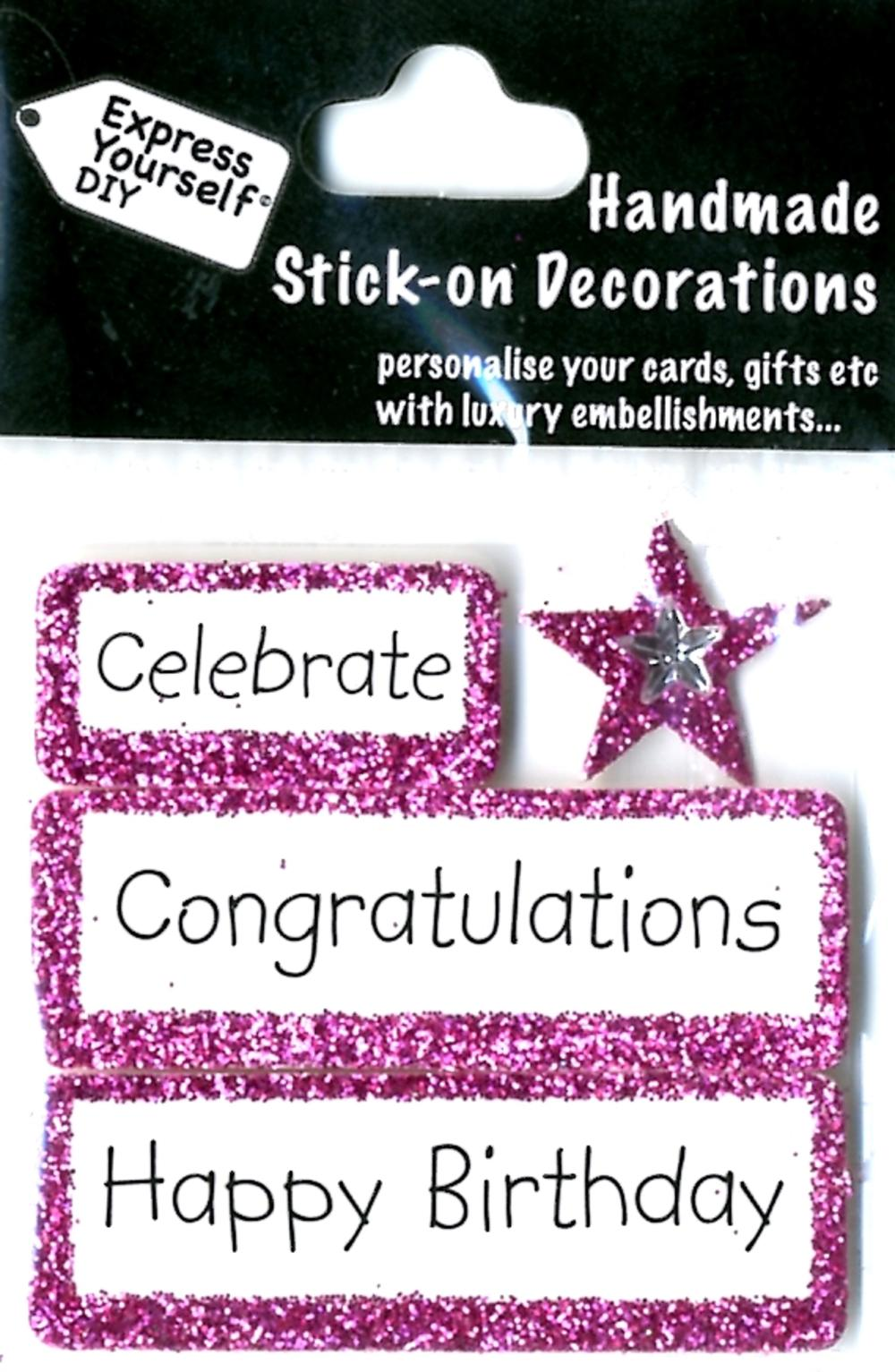 Happy Birthday Congratulations DIY Greeting Card Toppers